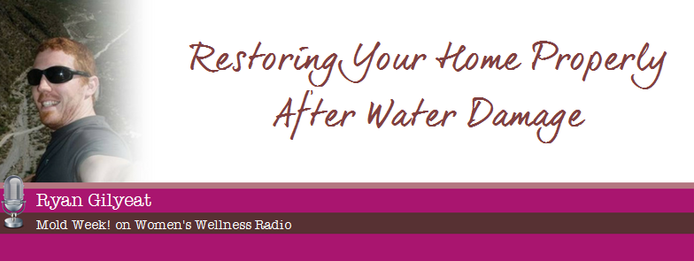 Restoring your home after a water damage – Our interview with Women's Wellness Radio